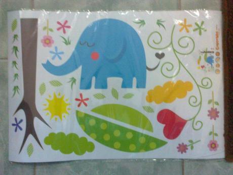nalepka na stenu slon,