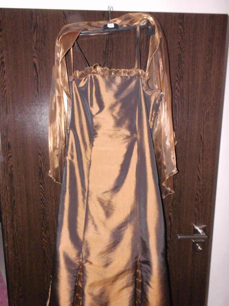 medenné šaty L-XL, L