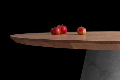 Jedálenský stôl TAP - masívny dub/beton,