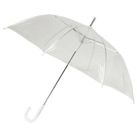 Průhledný holový deštník,