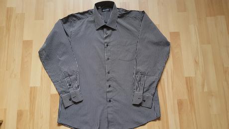 Košile pánská - jemný proužek  vel.45/46 , 46