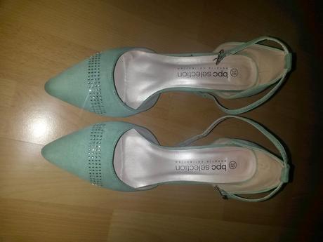 sandálky mätovej farby , 39