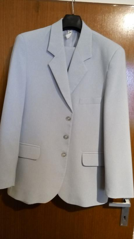 Šedý oblek-L - 48, 48