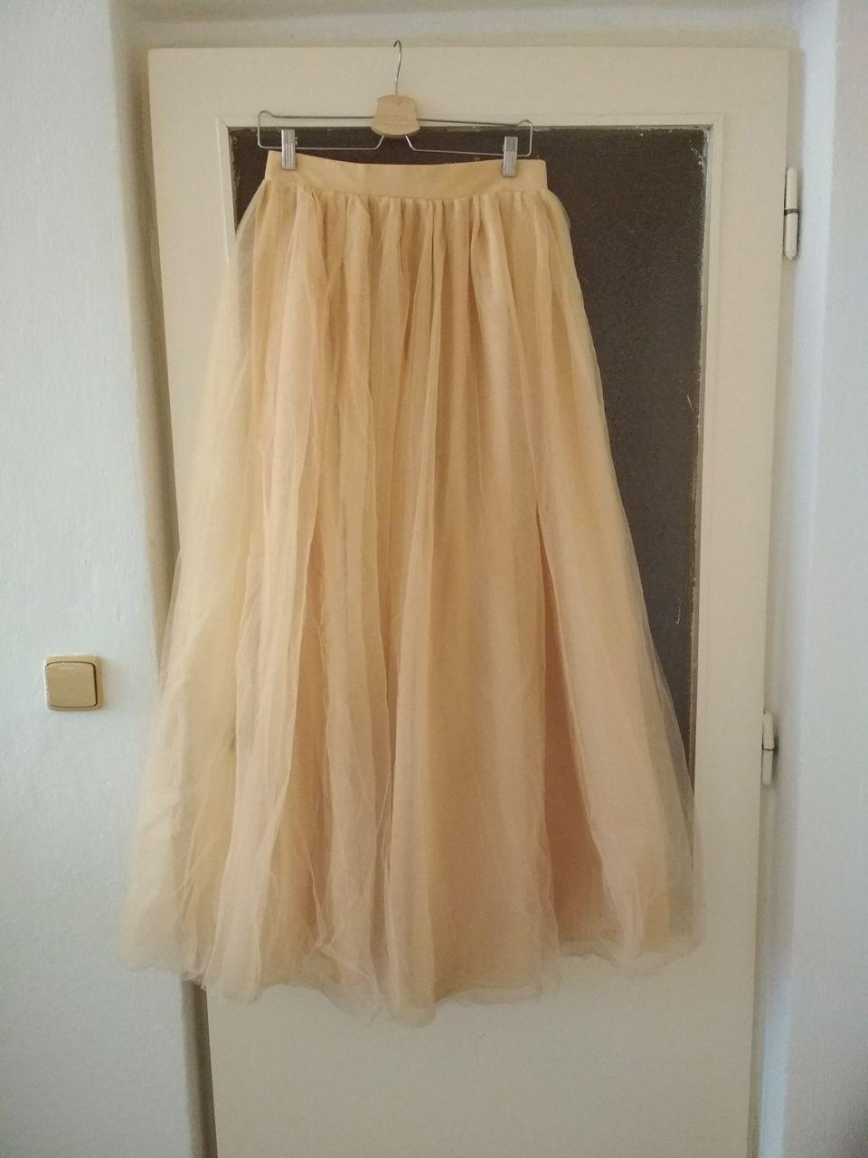 Tylová dlouhá sukně  e101388a78