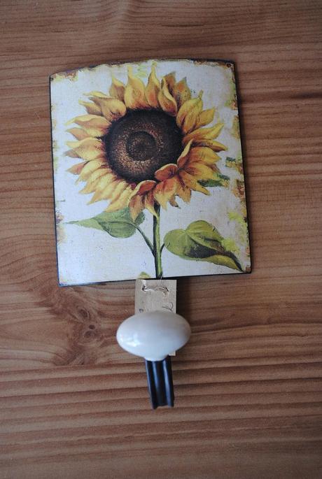 slnečnicový kovový háčik,