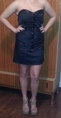 Čierne elegantné šaty s visačkou, veľ. L/XL, Nenos, 42
