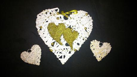 Zlato biele srdce pod obrúčky,