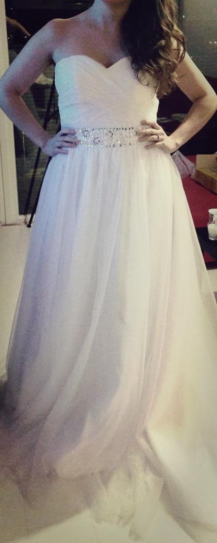 Princeznovské svadobné šaty s vlečkou, 38