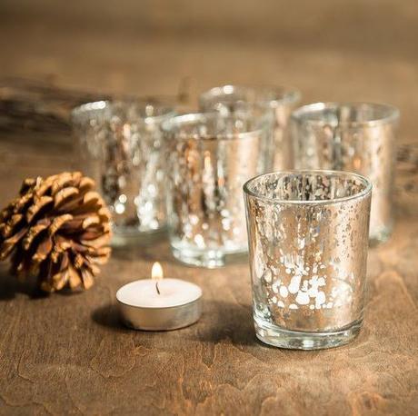 Strieborné svietniky na čajové sviečky (prenájom),