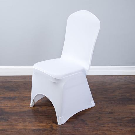 Univerzálne biele návleky na stoličky (prenájom),