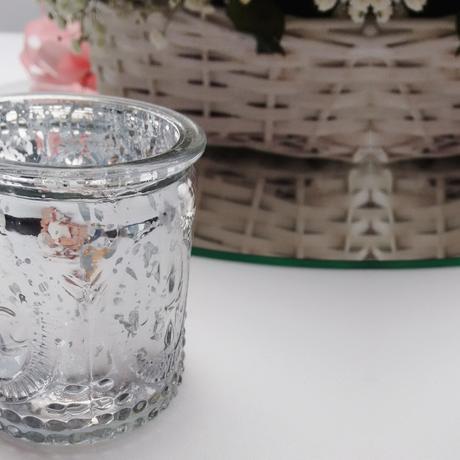 Zdobené svietniky na čajové sviečky (prenájom),