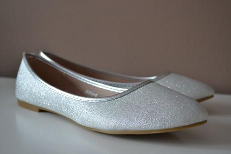 Nenošené stříbrné balerínky, 39