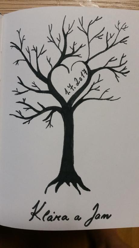 Svatebni strom na plátno,