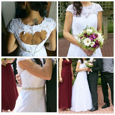 Svatební šaty- atypické, 38