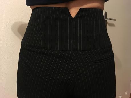 Elegantné nohavice s vyvýšeným pásom, 36