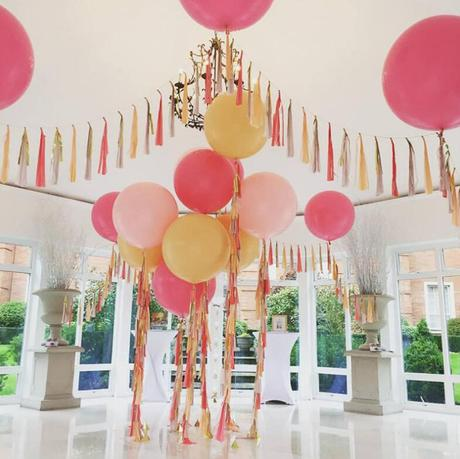 Balónky růžové 45 cm 9 ks,