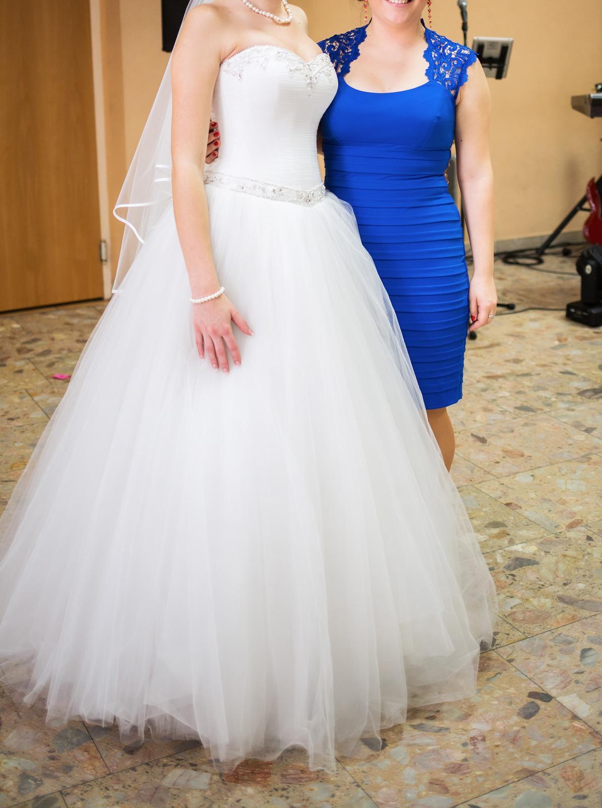 Princeznovské tylové svadobné šaty 36-39 4b8b6c60a44