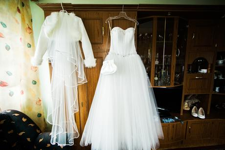 Princeznovské tylové svadobné šaty 36-39, 38