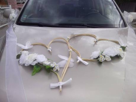 svadobná výzdoba auta,