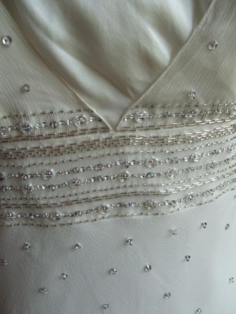 Monsoon Ivory svatební šaty, jednoduché, elegantní, 38