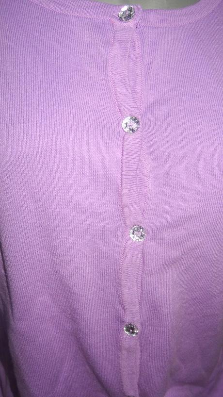 fialový sveter/pulover, L