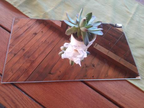zrkadlo pod svietnik, vázu obdĺžnik,