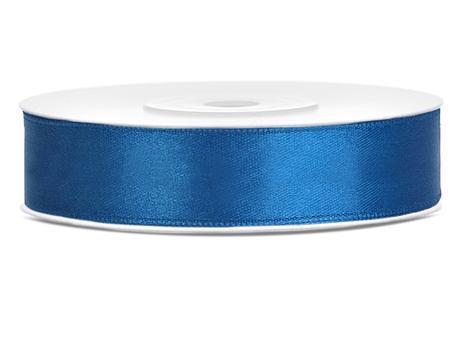 Atlasová stuha 12mm/25m modrá,