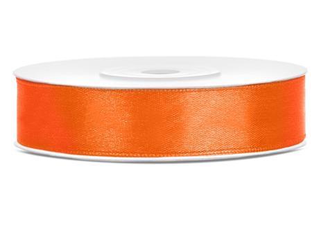 Atlasová stuha 12mm/25m oranžová,