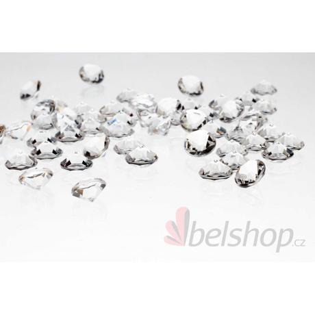 Mini diamanty čiré (60ks),