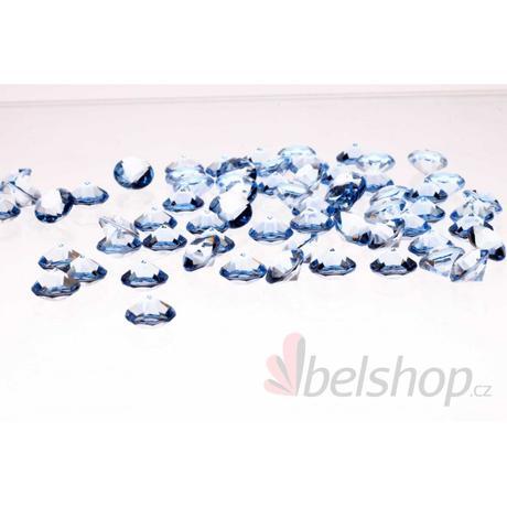 Mini diamanty modré (60ks),