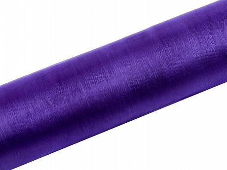 Organza fialová 16cm/9m neobšitá,