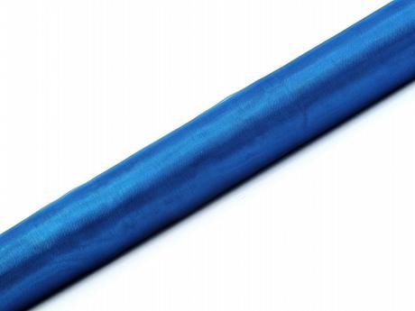 Organza modrá 36cm/9m neobšitá,