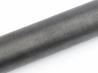 Organza šedá/stříbrná 16cm/9m neobšitá,