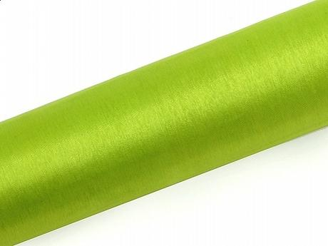 Organza zelená 16cm/9m neobšitá,