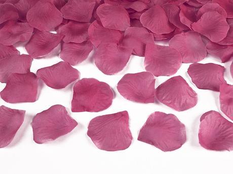 Plátky růží fuchsiové,