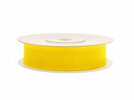 Šifónová stuha 12mm/25m žlutá,