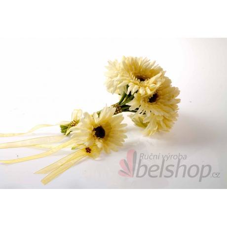 Svatební kytice Gerbery vč. korsáže,