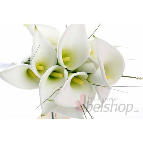 Svatební kytice KALA vč. korsáže,