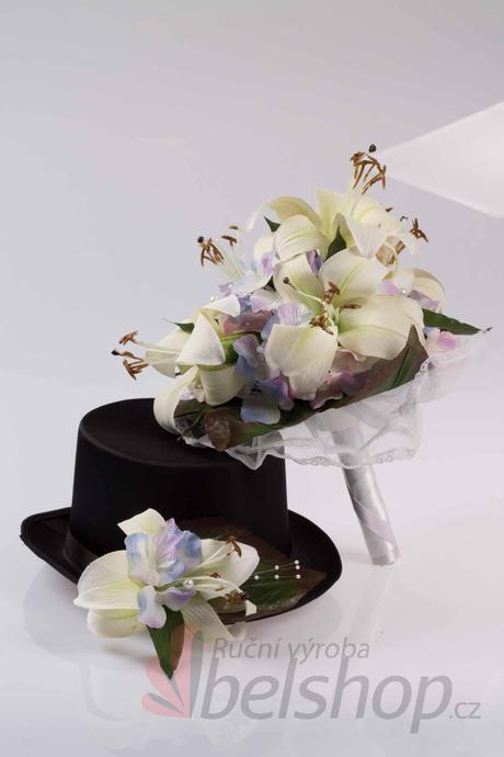 Svatební kytice Lilie vč. korsáže,