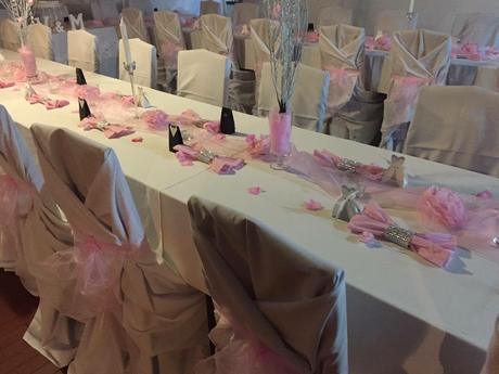 Masle na zidle a behoun na stůl pink,