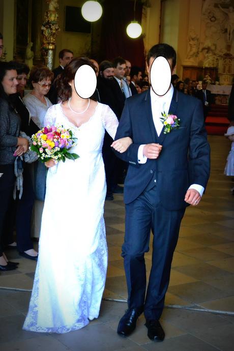 Těhotenské svatební šaty značky MADORA, 38