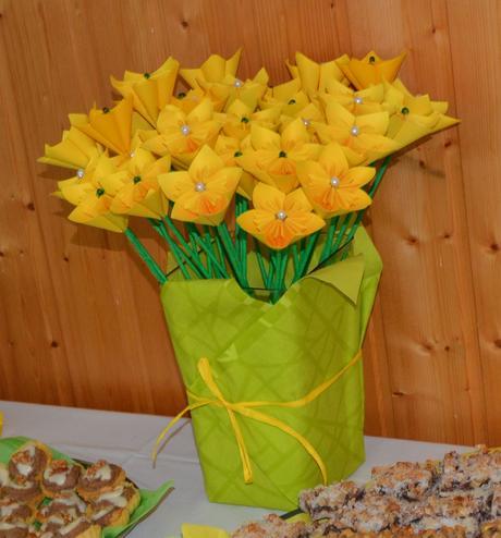 Papírové květiny,