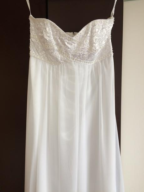 Empírové svadobné šaty, vhodné aj pre tehotné , 38