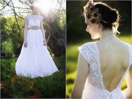 Krajkové, nepoužité svatební šaty, 38
