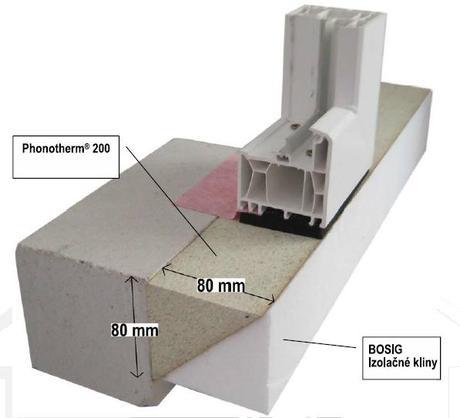 Profil Phonotherm 200 na predsadenú montáž okien,