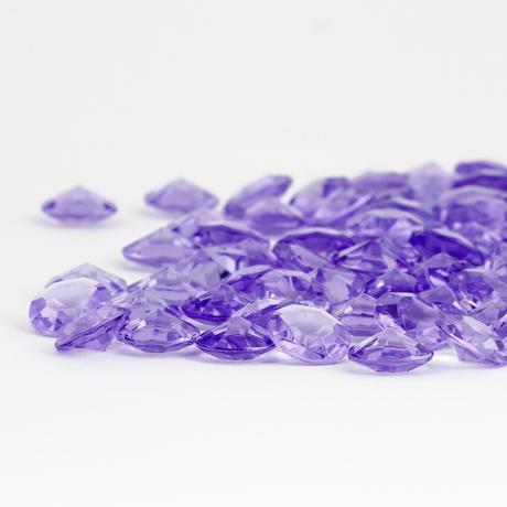 dekoračné diamantíky  fialové 12mm po 100ks,