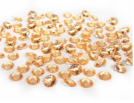 Dekoračné diamantíky zlaté,