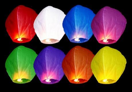 Lampióny šťastia klasické fialové,