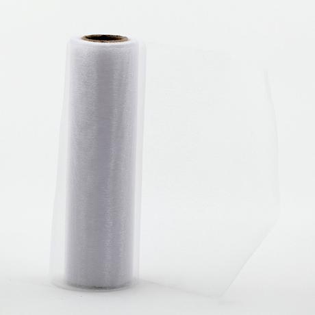 Organza 16 cm x 9m biela,