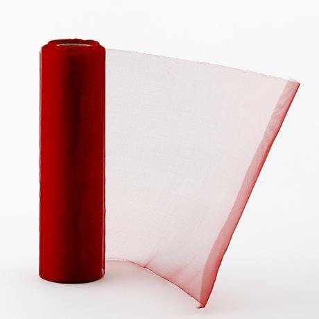 Organza 16 cm x 9m svetločervená,